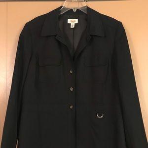 Talbots 18 silk blend black jacket/blazer